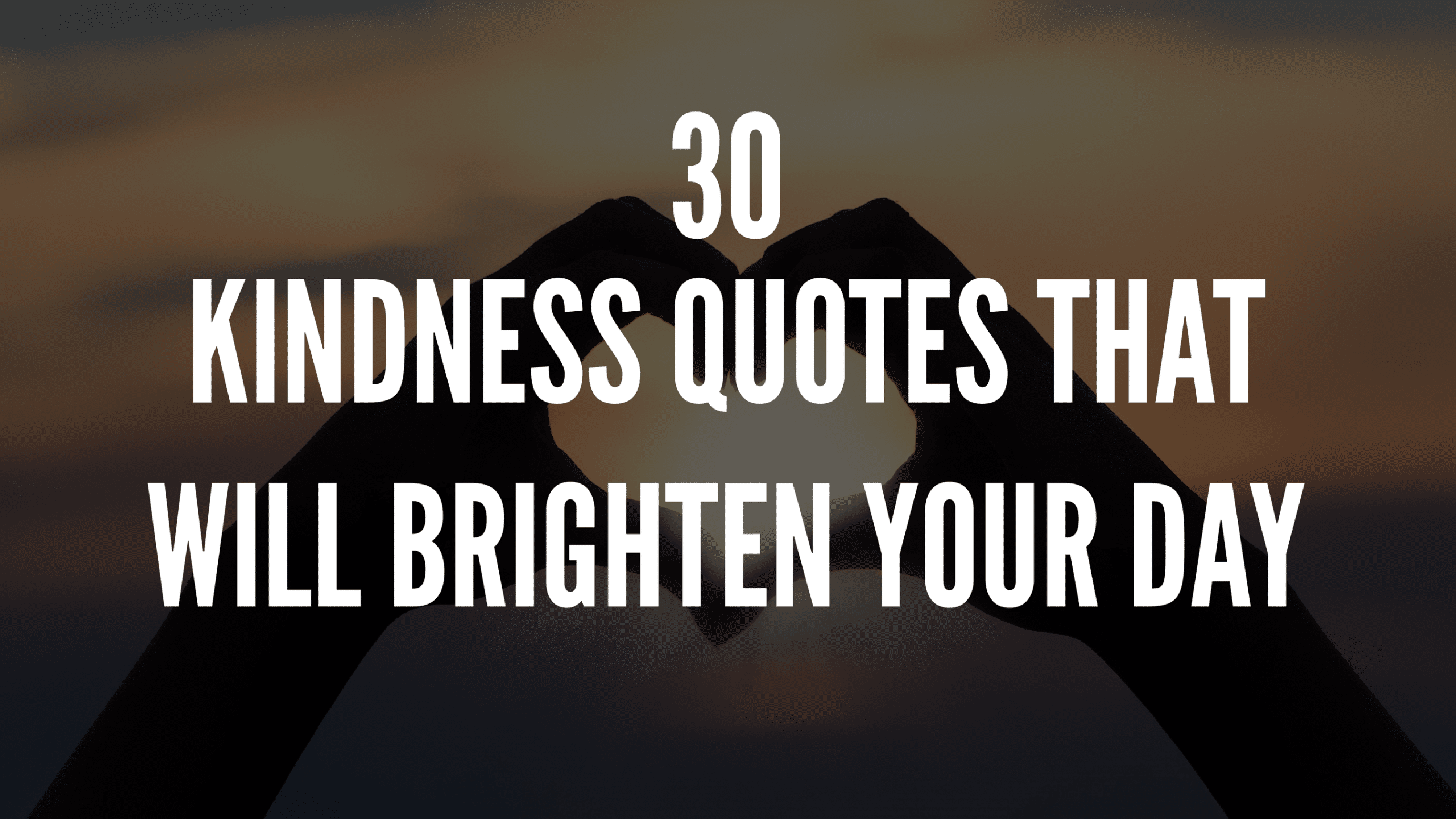 30 Kindness Quotes That Will Brighten Your Day