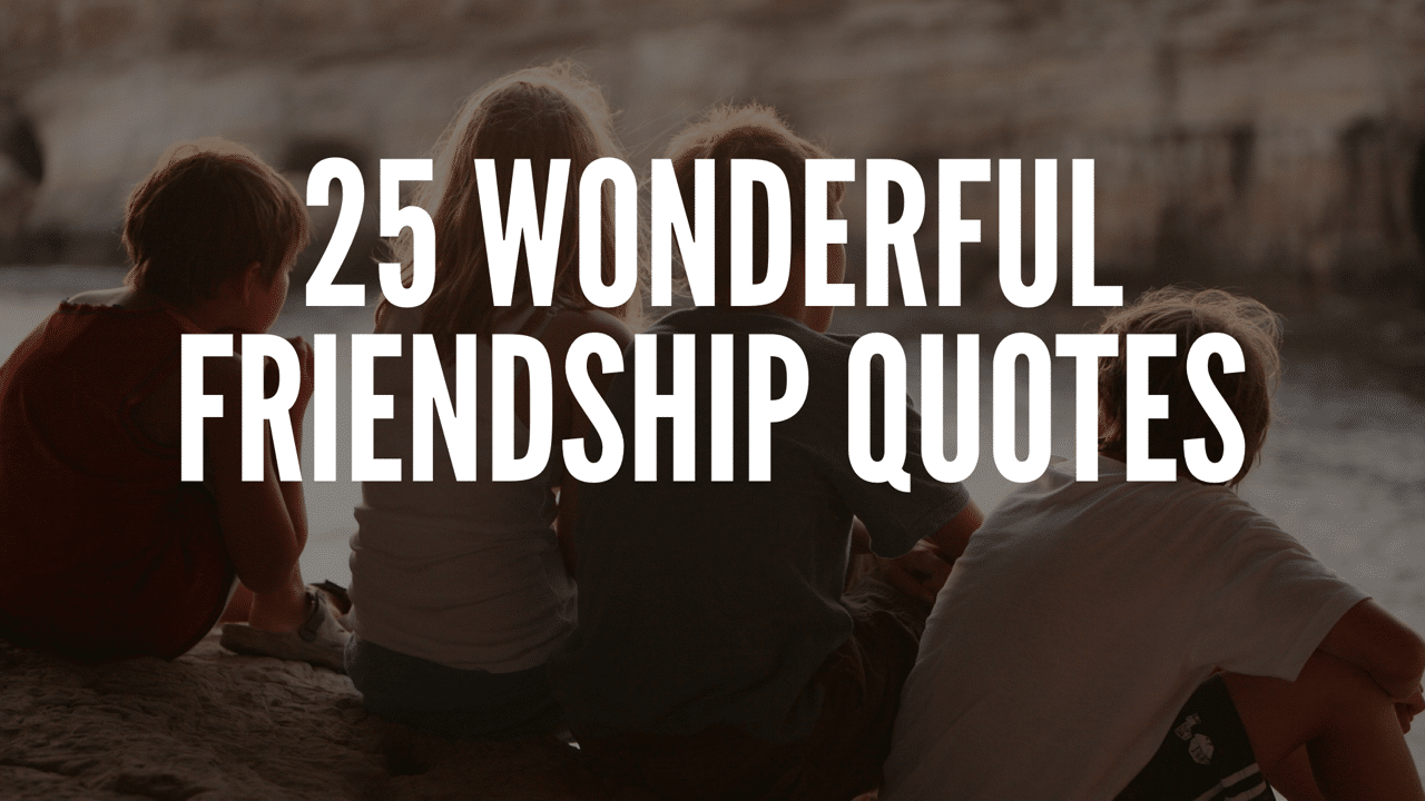25 Wonderful Friendship Quotes