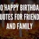 50 Happy Birthday Quotes