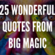Quotes From Big Magic